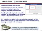 the four decisions 4 outsource bi and bw