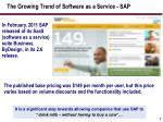 the growing trend of software as a service sap