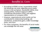 benefits vs costs