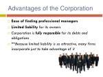 advantages of the corporation1