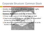 corporate structure common stock