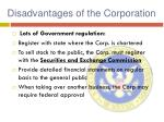 disadvantages of the corporation1