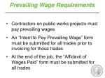 prevailing wage requirements