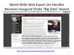 world wide web expert jim hendler receives inaugural strata big data award
