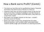 how a bank earns profit contd