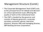 management structure contd1