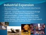 industrial expansion
