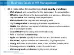 business goals of hr management