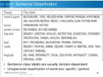 sentence classification