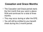 cessation and grace months