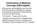 continuation of medicare coverage ssdi eligible