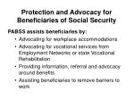 protection and advocacy for beneficiaries of social security