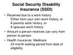 social security disability insurance ssdi