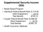 supplemental security income ssi