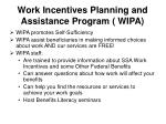 work incentives planning and assistance program wipa