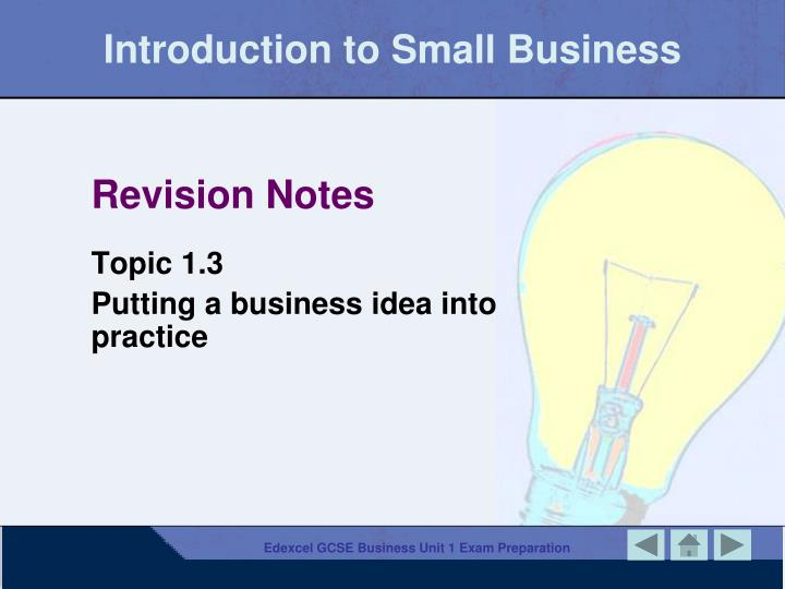 introduction to small business n.