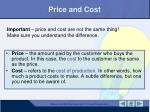price and cost