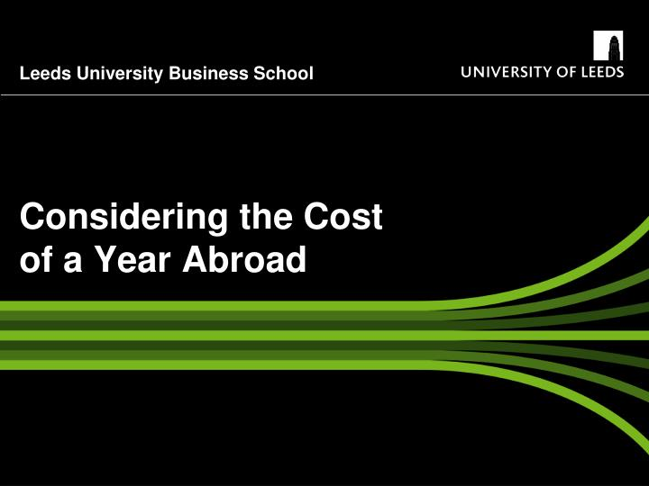 considering the cost of a year abroad n.