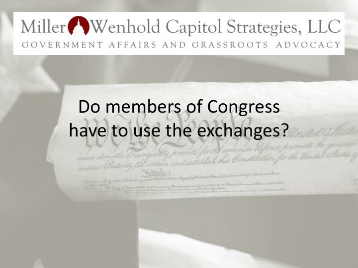 Do members of Congress