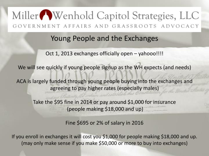 Young People and the Exchanges