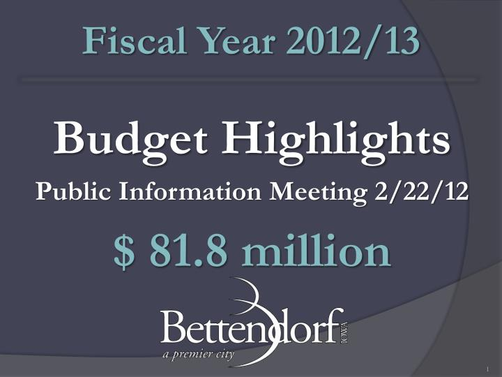 Fiscal Year 2012/13
