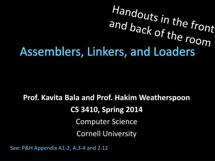 assemblers linkers and loaders n.