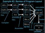 example 2 review of program layout