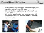 physical capability testing