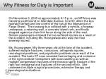 why fitness for duty is important