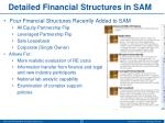 detailed financial structures in sam