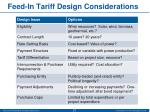 feed in tariff design considerations