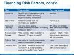 financing risk factors cont d