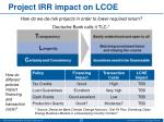 project irr impact on lcoe1