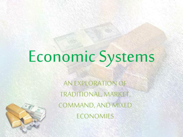 economic systems n.