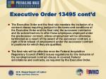 executive order 13495 cont d