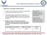 price adjustment elements cont d