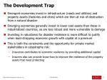the development trap