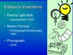 edison s inventions
