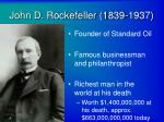 john d rockefeller 1839 1937