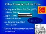 other inventions of the time1
