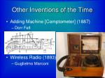 other inventions of the time3