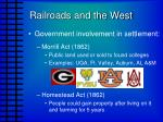 railroads and the west1