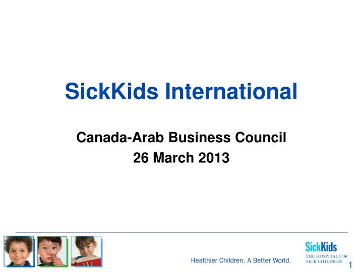 sickkids international n.