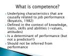 what is competence