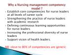 why a nursing management competency model