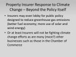 property insurer response to climate change beyond the policy itself1