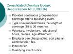 consolidated omnibus budget reconciliation act cobra
