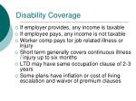 disability coverage