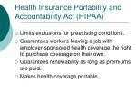 health insurance portability and accountability act hipaa