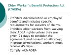 older worker s benefit protection act owbpa